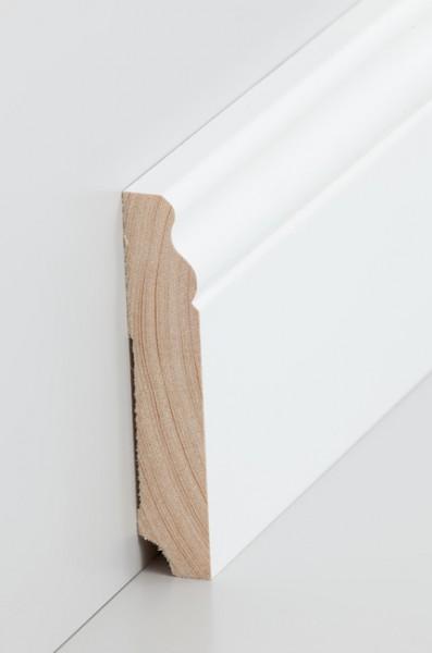 Hamburgerleiste Massivholz 19x100mm deckend weiß (RAL 9016) lackiert
