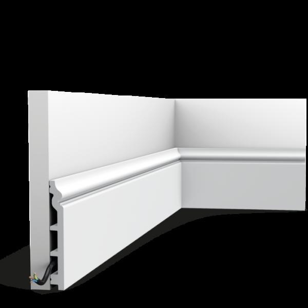 Endbeschichtete Sockelleiste SX118-RAL9003 CONTOUR ORAC DECOR Duropolymer / AXXENT