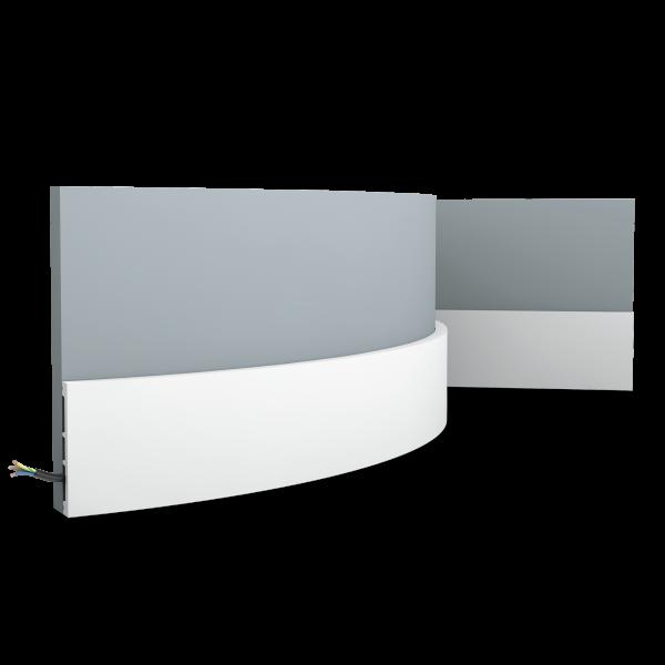 Sockelleiste SX163F SQUARE ORAC DECOR Duropolymer / AXXENT