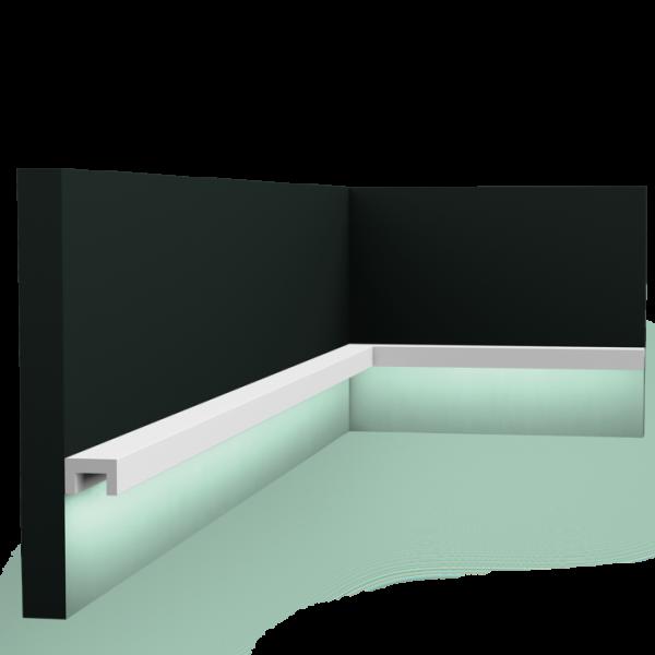 Lichtsockelleiste CX190 U-PROFILE ORAC DECOR Duropolymer / AXXENT-Copy