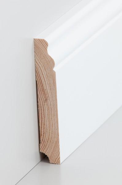 Hamburgerleiste Massivholz 19x115mm deckend weiß (RAL 9016) lackiert