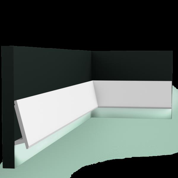 Lichtsockelleiste SX179 DIAGONAL ORAC DECOR Duropolymer / AXXENT