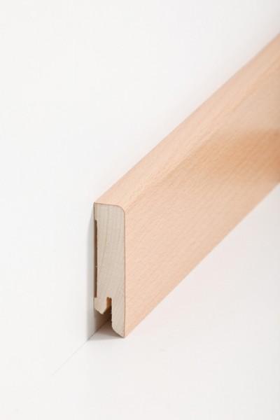 Holzsockelleiste, 16x60mm Holzkern mit Echtholz Furnier Buche