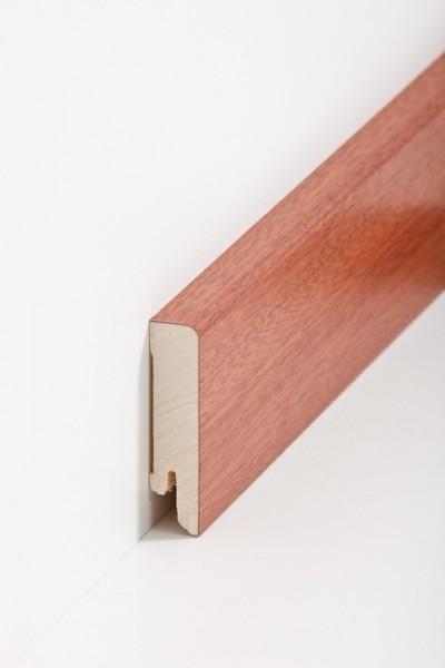 Holzsockelleiste, 16x60mm Holzkern mit Echtholz Furnier Mahagoni
