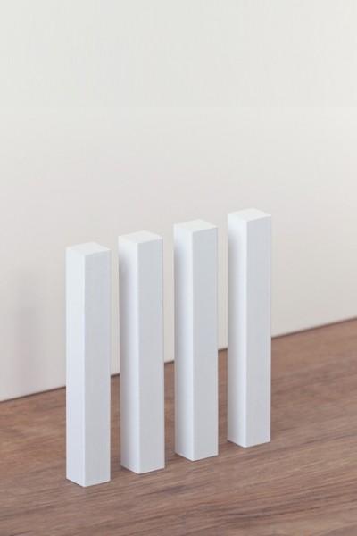 Universal Holzecken weiß lackiert 15x15x112 MM