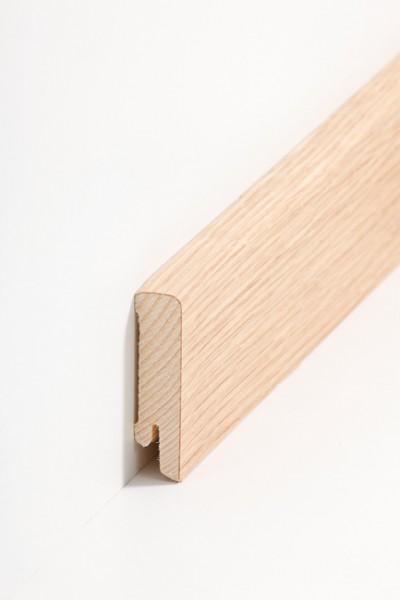 Holzsockelleiste, 16x60mm Holzkern mit Echtholz Furnier Eiche geölt